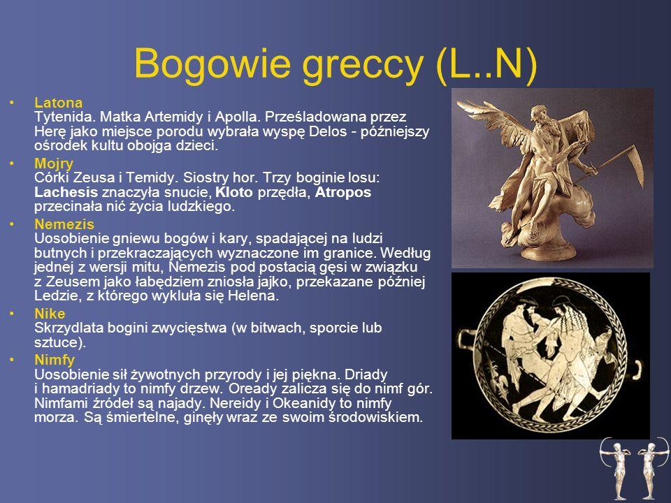 Bogowie greccy (L..N) Latona Tytenida.Matka Artemidy i Apolla.