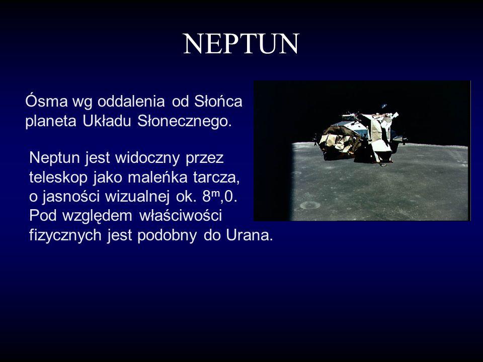 URAN Siódma planeta Układu Słonecznego, odkryta przypadkowo 13 marca. Widoczna jako obiekt o zielonkawo niebieskim kolorze. Ma 7 księżyców i pierścień