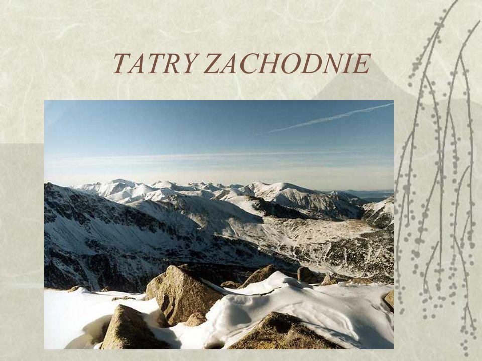 Tatry Wysokie zbudowane są z granodiorytu trzonu krystalicznego.