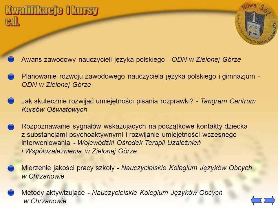 Edukacja regionalna w szkole podstawowej na przykładzie tradycji ludowych Ziemi Lubuskiej - Polskie Stowarzyszenie Pedagogiki C.