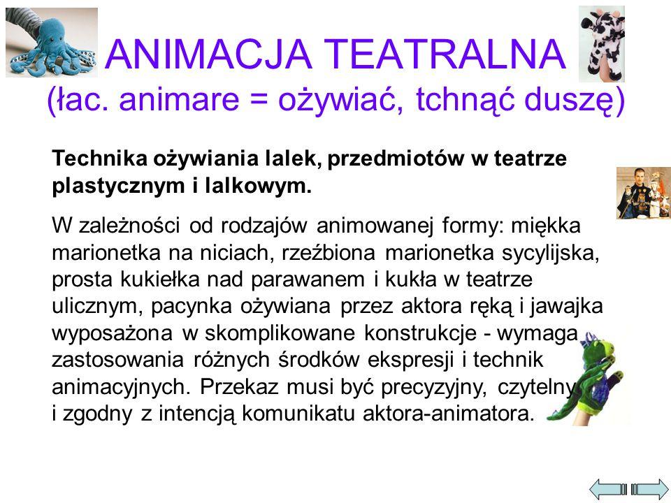 ANIMACJA TEATRALNA (łac.