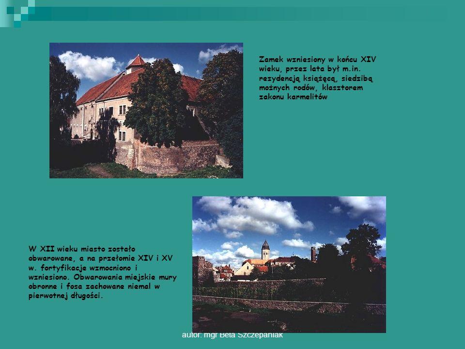 autor: mgr Beta Szczepaniak Zamek wzniesiony w końcu XIV wieku, przez lata był m.in. rezydencją książęcą, siedzibą możnych rodów, klasztorem zakonu ka