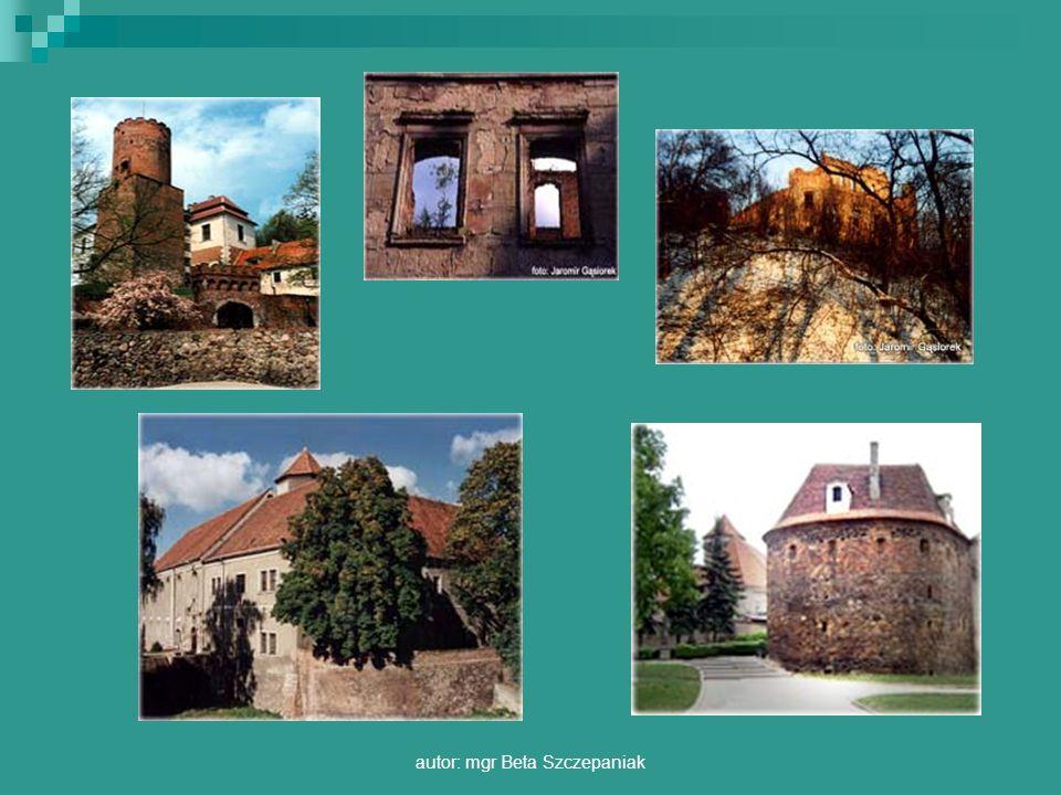 autor: mgr Beta Szczepaniak Rycerska wieża mieszkalna powstała przypuszczalnie na początku XIV wieku, otoczona była murem obwodowym.