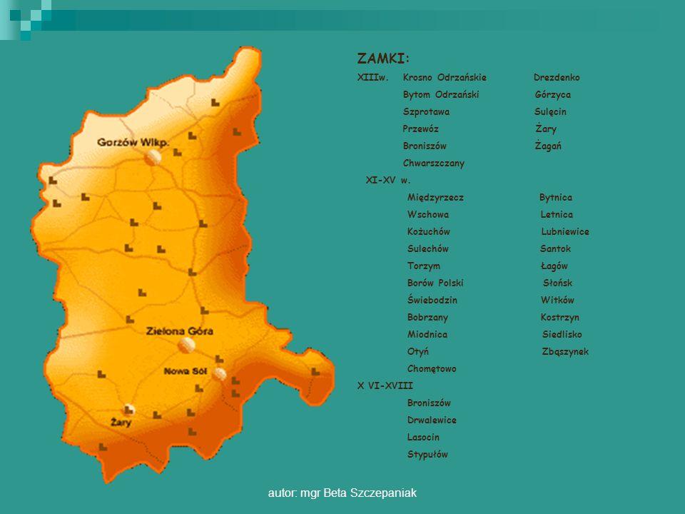 autor: mgr Beta Szczepaniak MIĘDZYRZECZ Dawny gród piastowski został w XIV w.