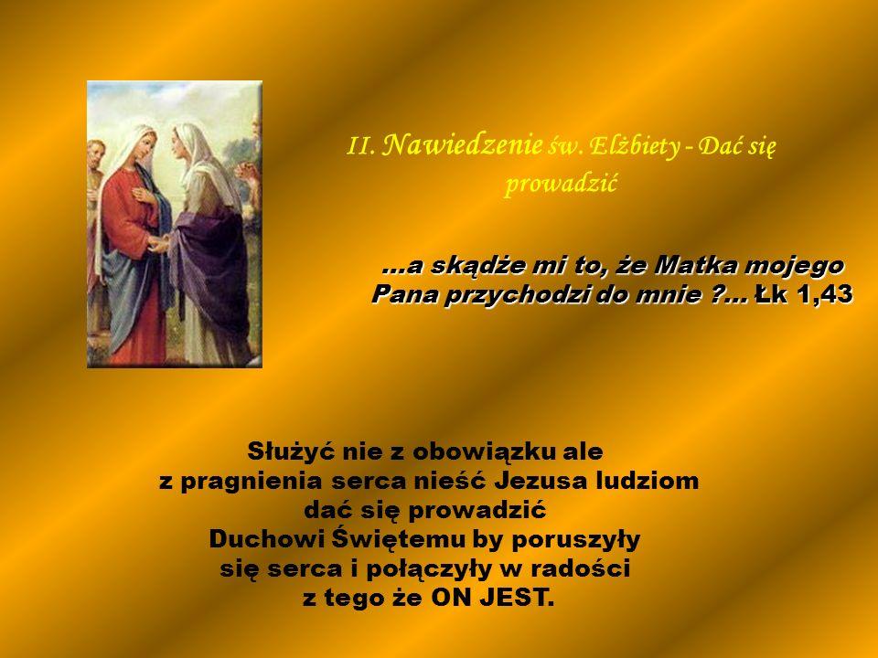 Służyć nie z obowiązku ale z pragnienia serca nieść Jezusa ludziom dać się prowadzić Duchowi Świętemu by poruszyły się serca i połączyły w radości z t