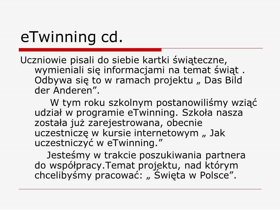 eTwinning cd.