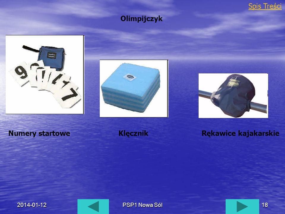 2014-01-12PSP1 Nowa Sól18 Olimpijczyk Spis Treści Numery startoweKlęcznikRękawice kajakarskie