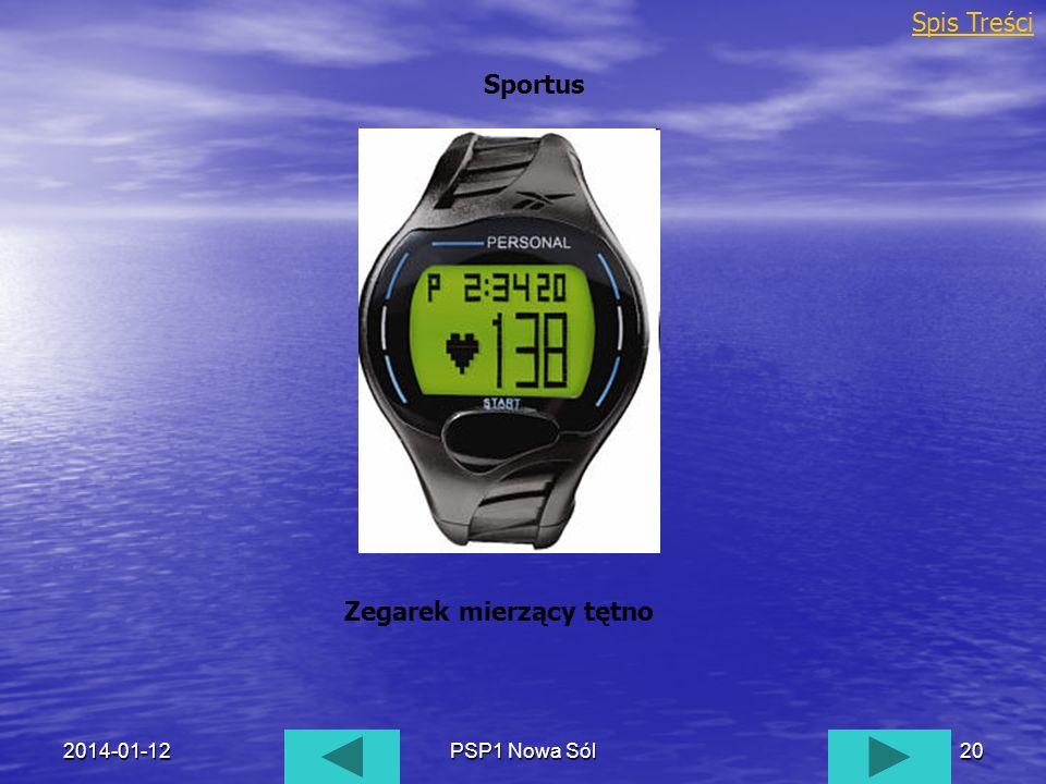 2014-01-12PSP1 Nowa Sól20 Sportus Spis Treści Zegarek mierzący tętno