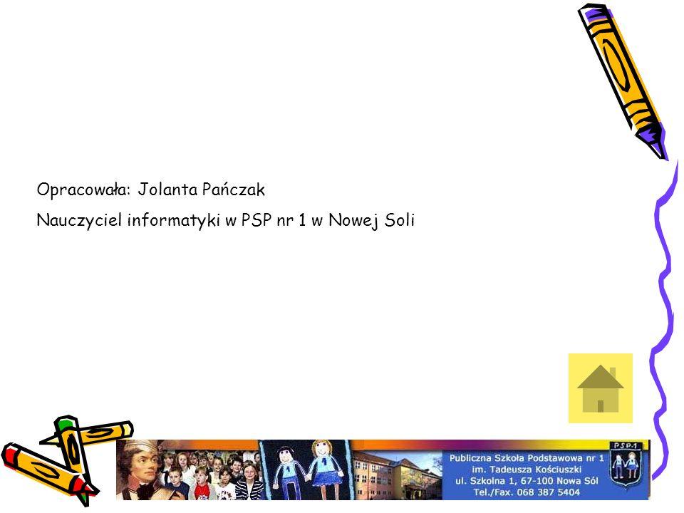 Opracowała: Jolanta Pańczak Nauczyciel informatyki w PSP nr 1 w Nowej Soli