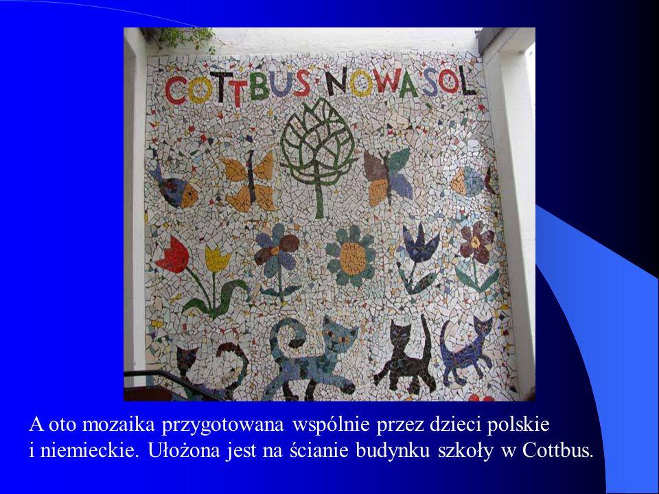 A oto mozaika przygotowana wspólnie przez dzieci polskie i niemieckie.
