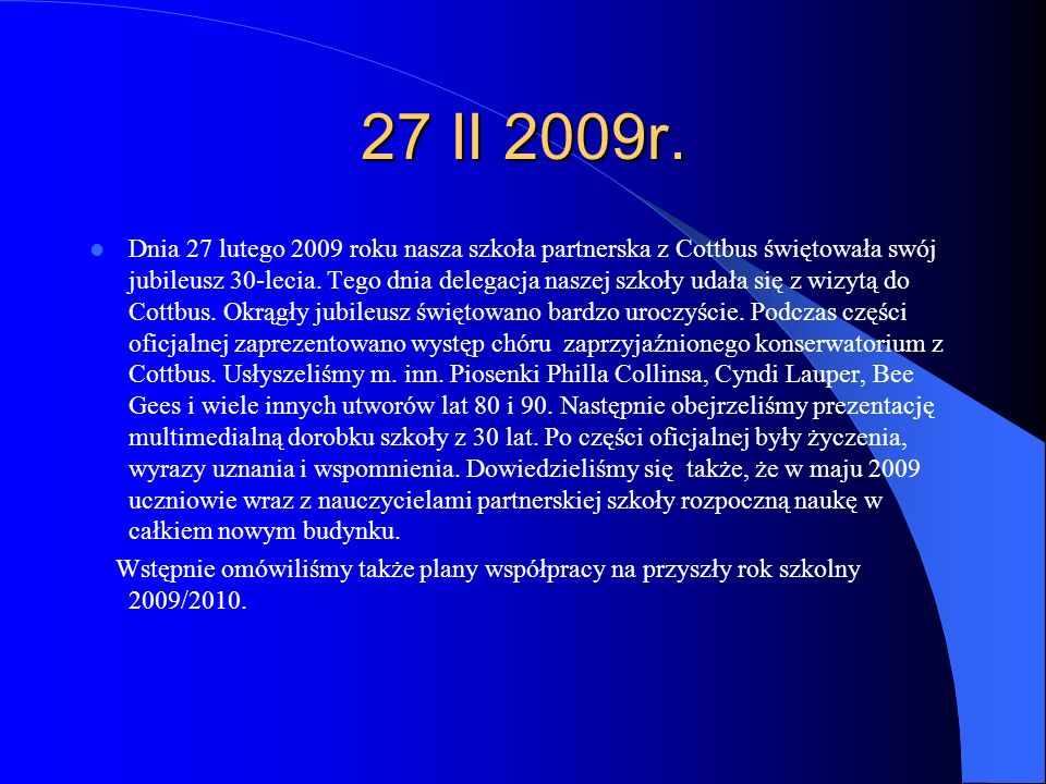 27 II 2009r.