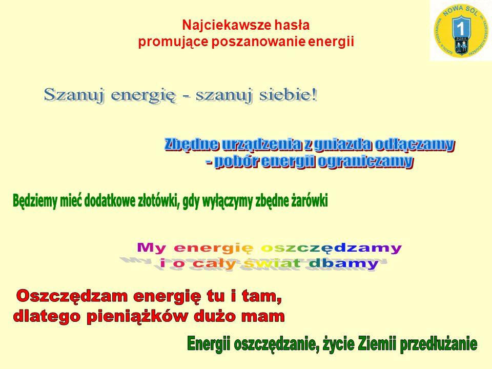 Najciekawsze hasła promujące poszanowanie energii