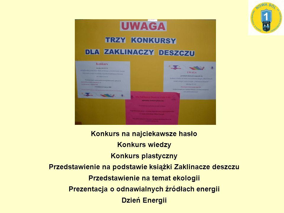 Konkurs na najciekawsze hasło promujące poszanowanie energii
