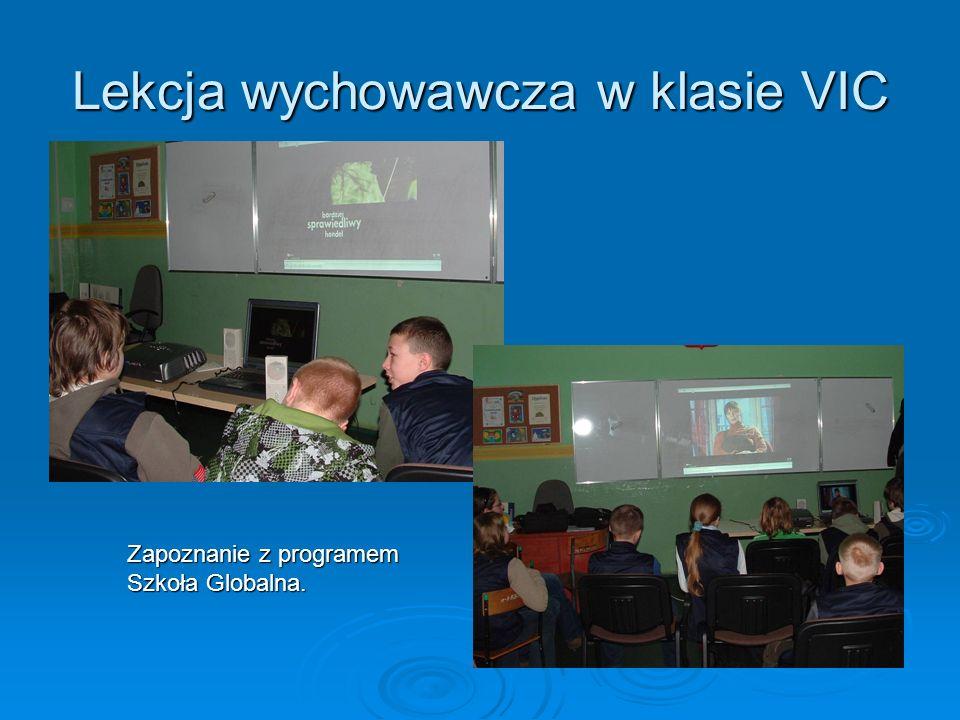 Lekcja wychowawcza w klasie VIC Zapoznanie z programem Szkoła Globalna.