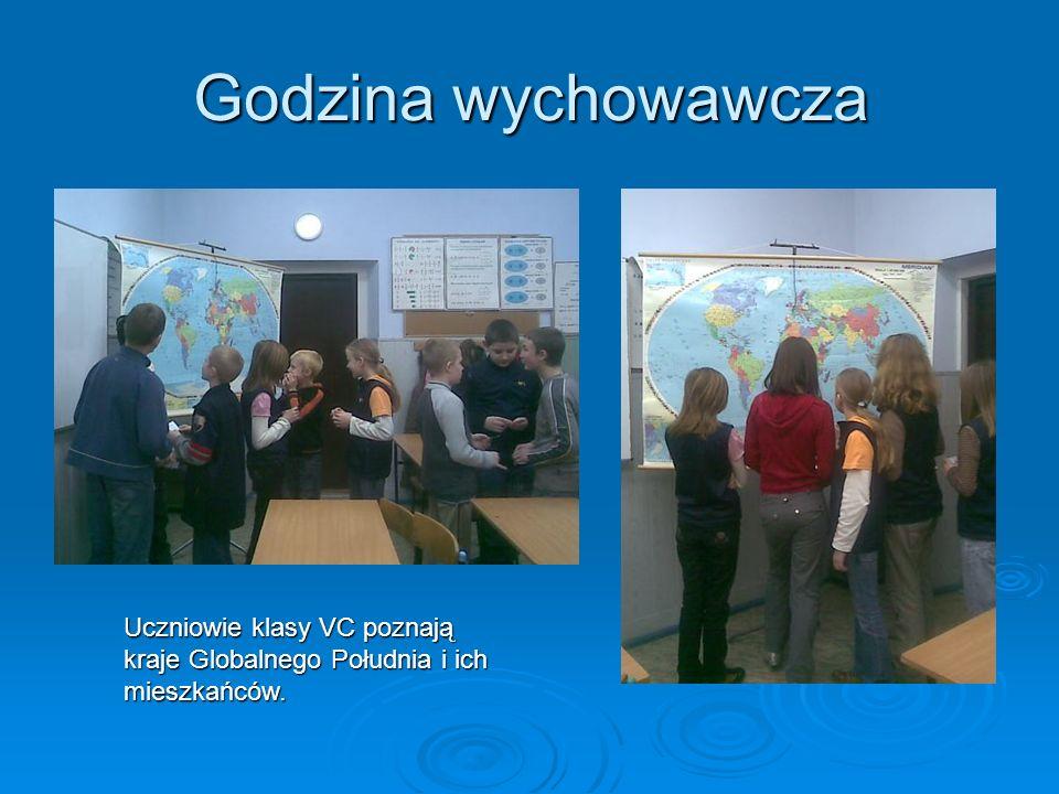 Godzina wychowawcza Uczniowie klasy VC poznają kraje Globalnego Południa i ich mieszkańców.
