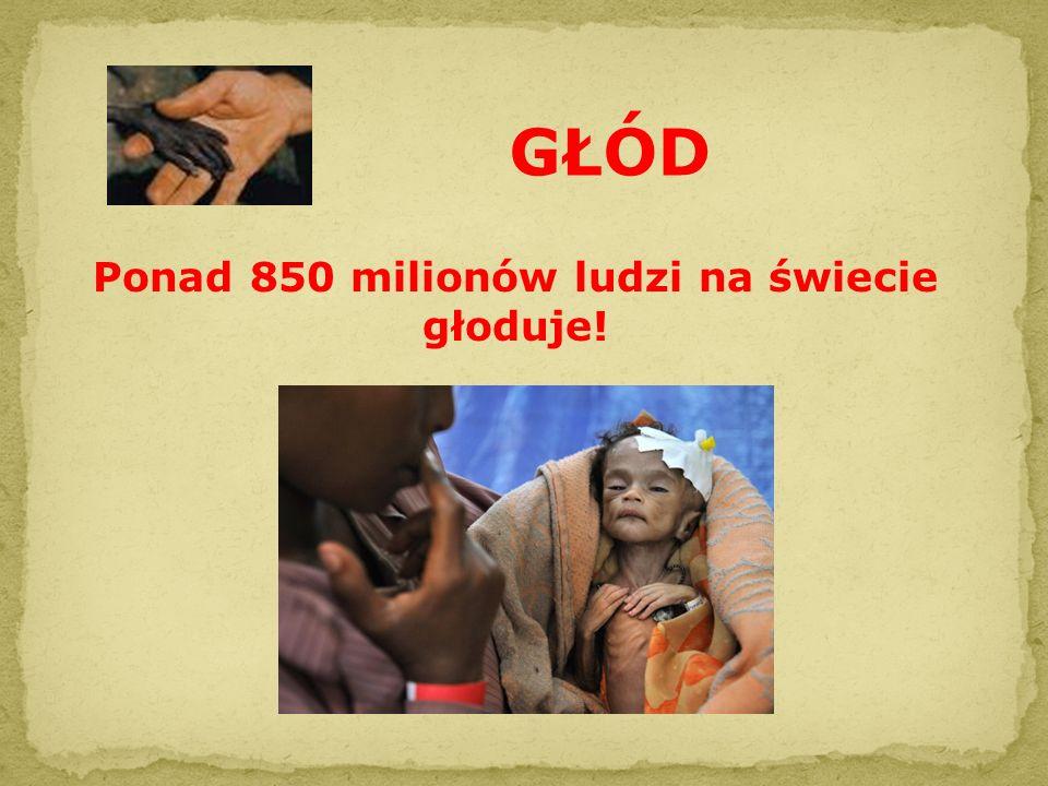 GŁÓD Ponad 850 milionów ludzi na świecie głoduje!