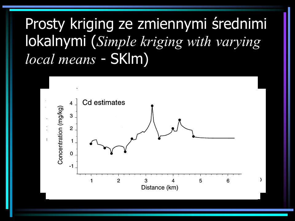 Prosty kriging ze zmiennymi średnimi lokalnymi ( Simple kriging with varying local means - SKlm)