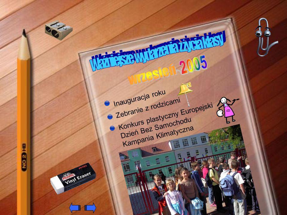 Dzień Edukacji Narodowej Konsultacje indywidualne Wycieczka do Zielonej Góry - Teatr Lubuski Zabawa integracyjna Odwiedzamy groby naszych zmarłych Wybory do Zarządu Samorządu Uczniowskiego