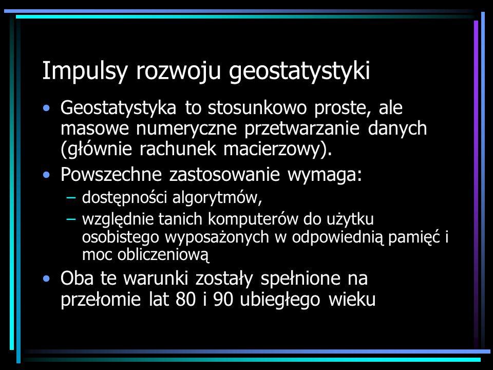 Kategorie oprogramowania geostatystycznego: VII.