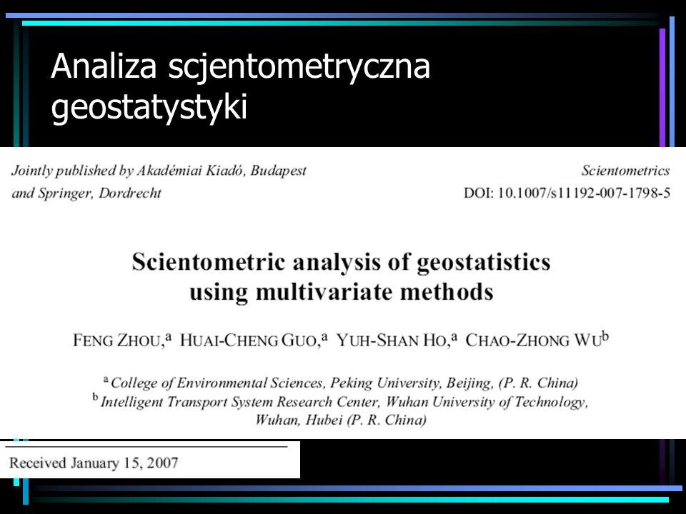 Analiza scjentometryczna geostatystyki