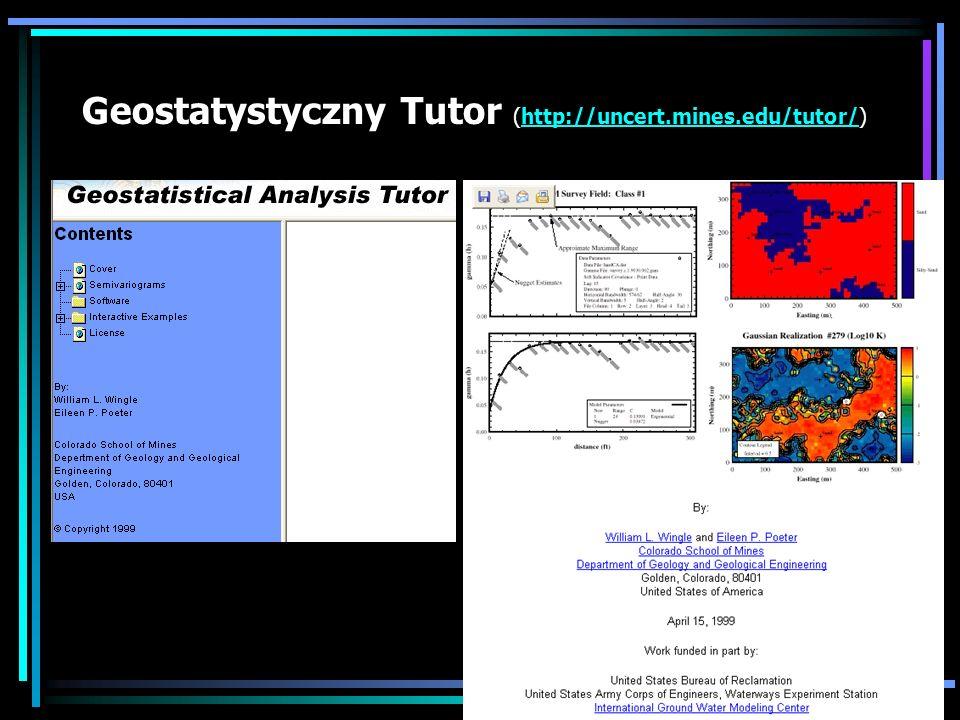 Geostatystyczny Tutor (http://uncert.mines.edu/tutor/)http://uncert.mines.edu/tutor/