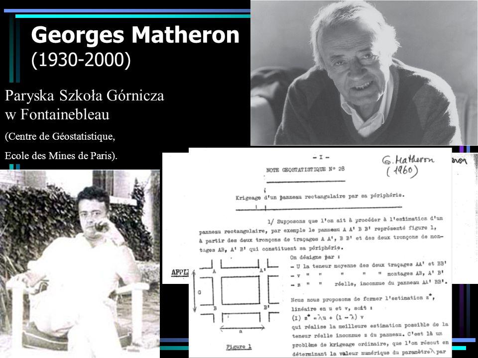 Materiały w internecie do niniejszego kursu geostatystyki http://www.geoinfo.amu.edu.pl/staff/astach/geostat01.htm