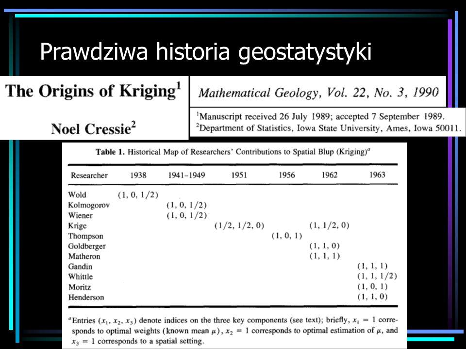 Najlepsze podręczniki: Wykłady: Goovaerts, P., 1997: Geostatistics for Natural Resources Evaluation.