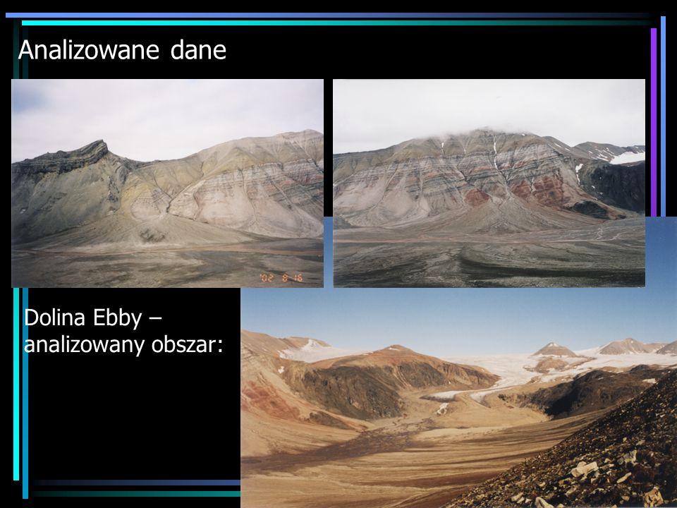 Analizowane dane Dolina Ebby – analizowany obszar: