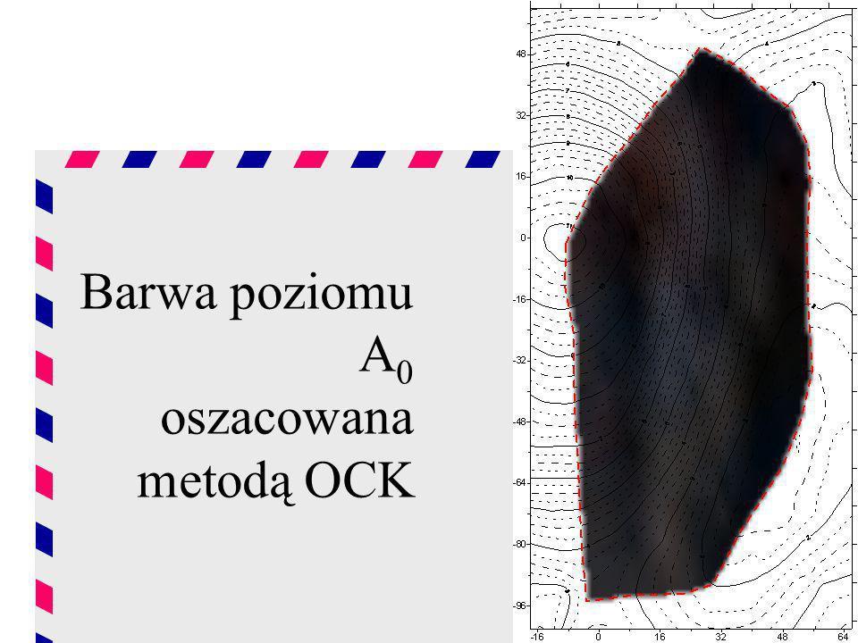 Barwa poziomu A 0 oszacowana metodą OCK
