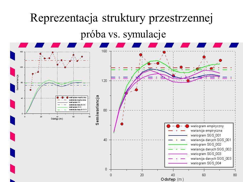 Reprezentacja struktury przestrzennej próba vs. symulacje