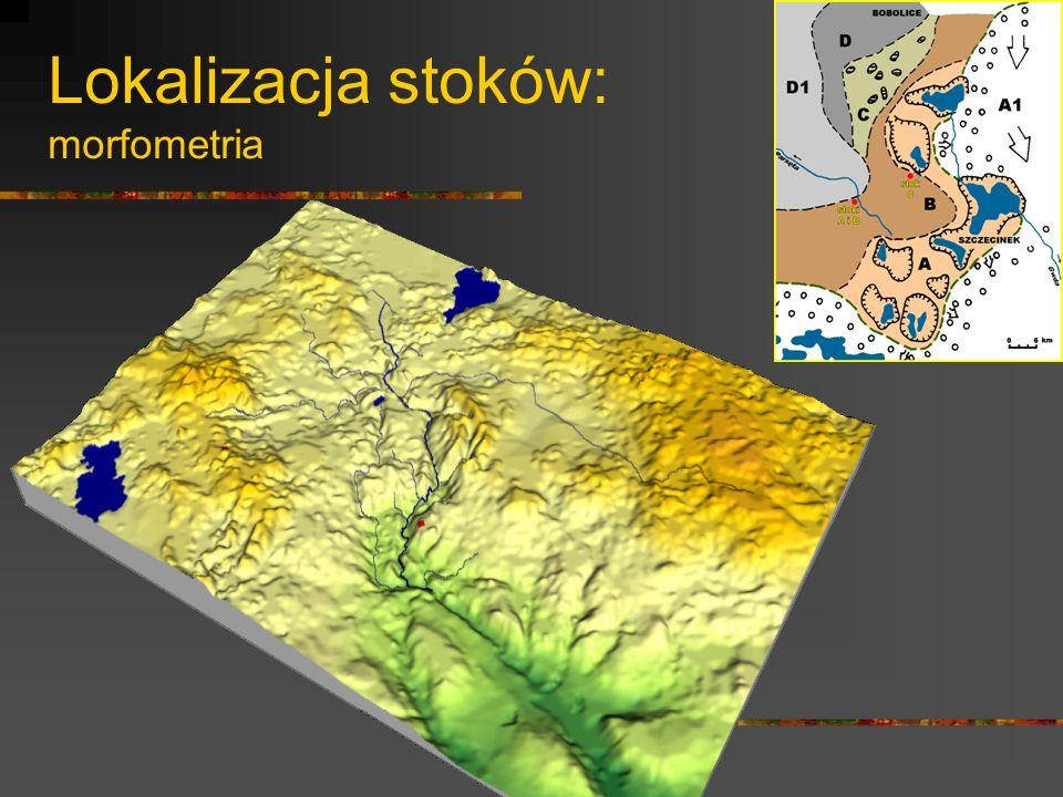 Lokalizacja stoków: morfometria (stok A i B)