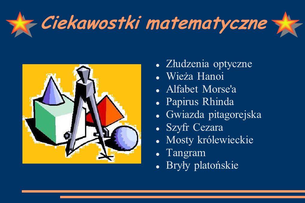 Prezentację opracowała Agnieszka Jandura. Więcej ciekawostek na stronie www.math.edu.pl