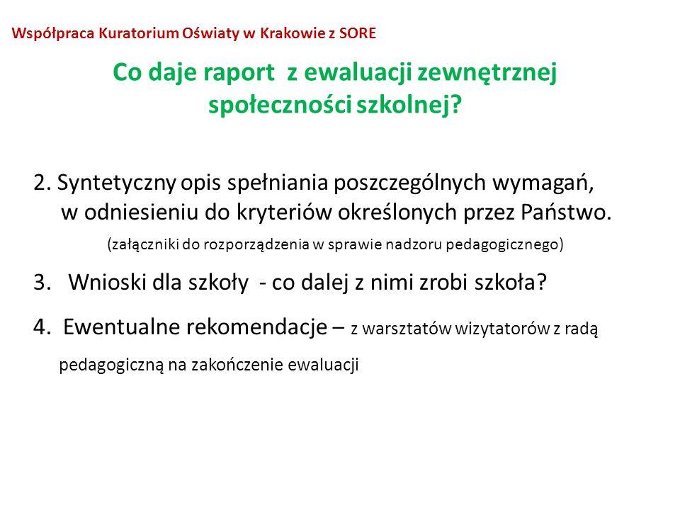 2. Syntetyczny opis spełniania poszczególnych wymagań, w odniesieniu do kryteriów określonych przez Państwo. (załączniki do rozporządzenia w sprawie n