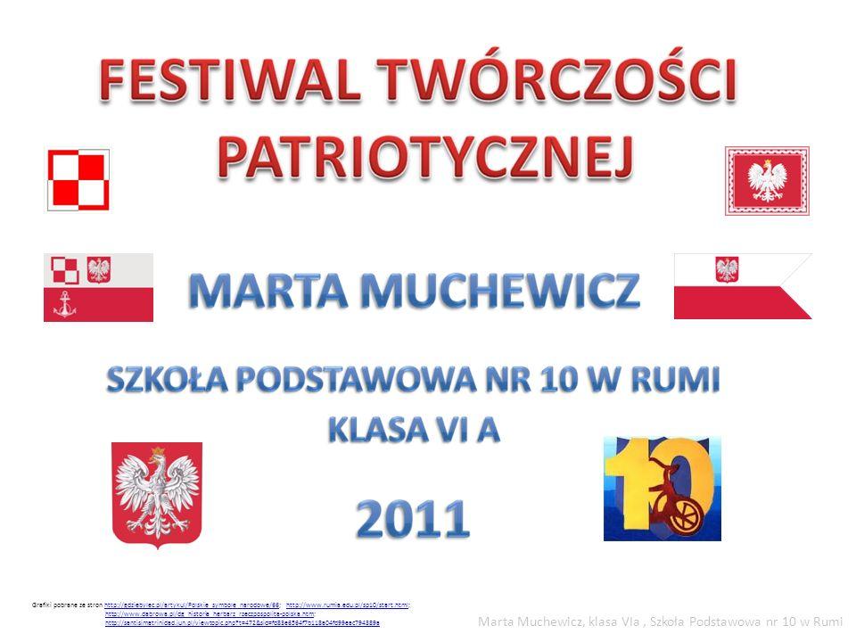 Grafiki pobrane ze stron http://gdziebylec.pl/artykul/Polskie_symbole_narodowe/66; http://www.rumia.edu.pl/sp10/start.html;http://gdziebylec.pl/artyku