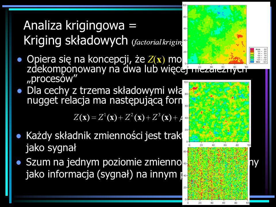 l Każdy składnik zmienności jest traktowany po kolei jako sygnał l Szum na jednym poziomie zmienności jest uznawany jako informacja (sygnał) na innym