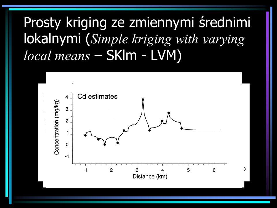 Prosty kriging ze zmiennymi średnimi lokalnymi ( Simple kriging with varying local means – SKlm - LVM)