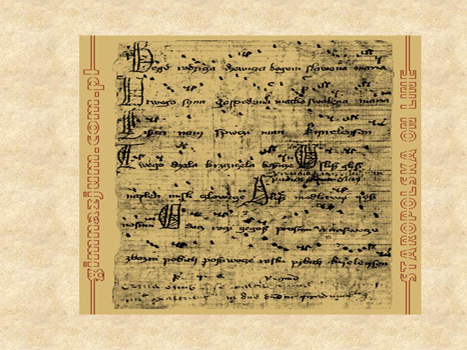 Kazania świętokrzyskie powstały na początku XIV wieku (zachowane fragmenty kopii pochodzą z 1.