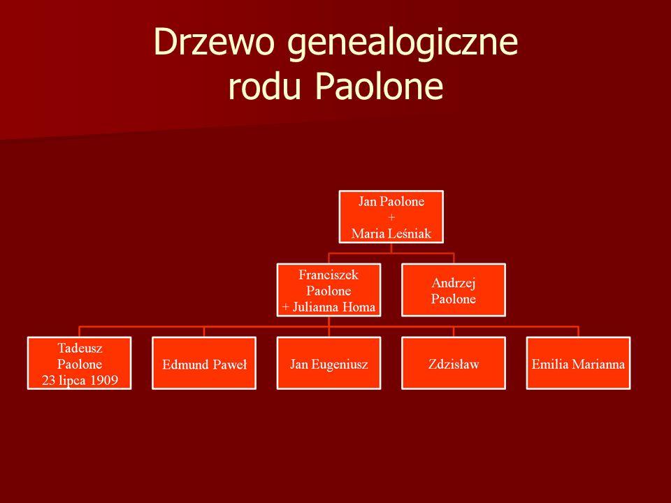 Drzewo genealogiczne rodu Paolone