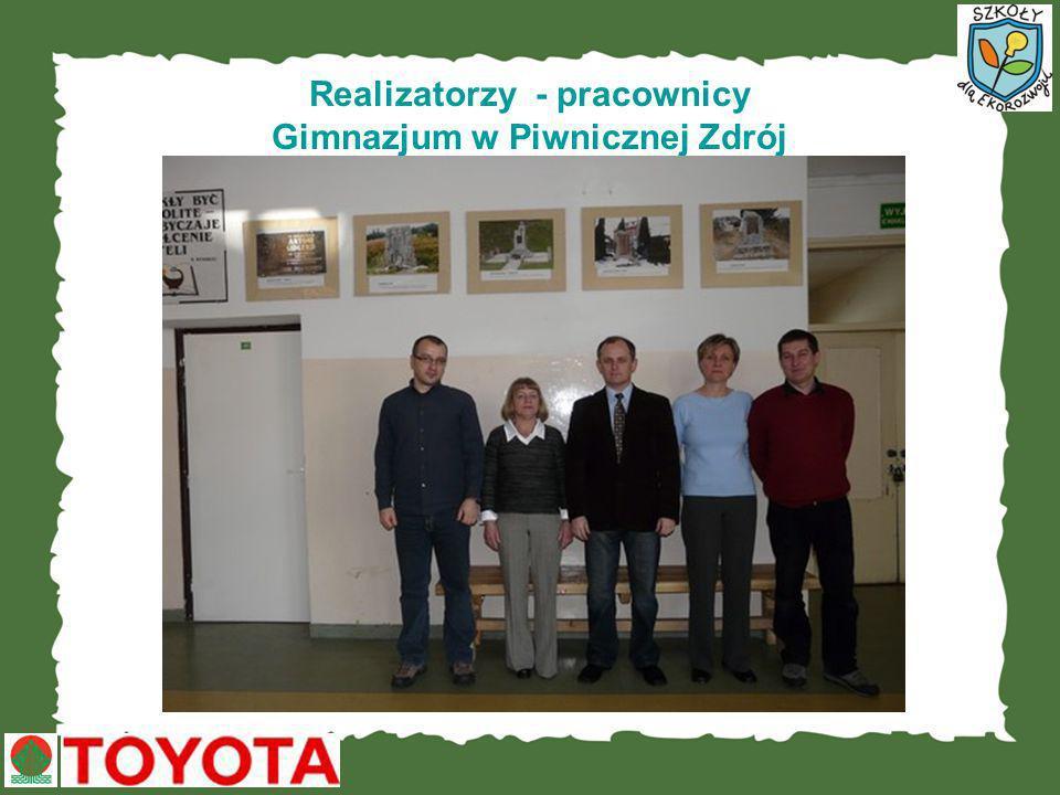 Realizatorzy - pracownicy Gimnazjum w Piwnicznej Zdrój