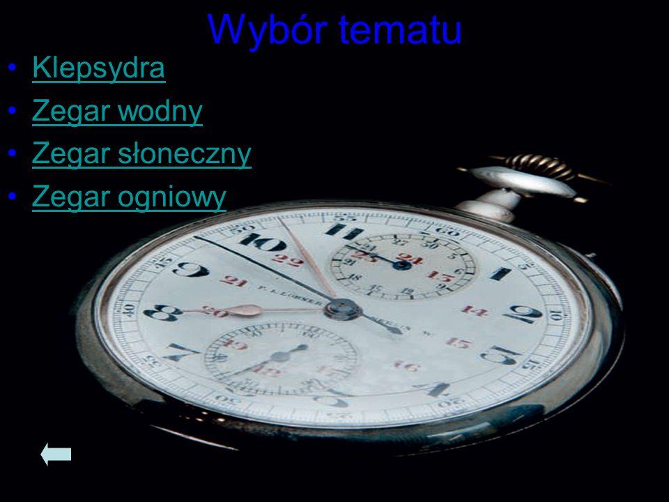 Historia pomiaru czasu… Zegary i inne narzędzia służące do pomiaru czasu na przestrzeni wieków.