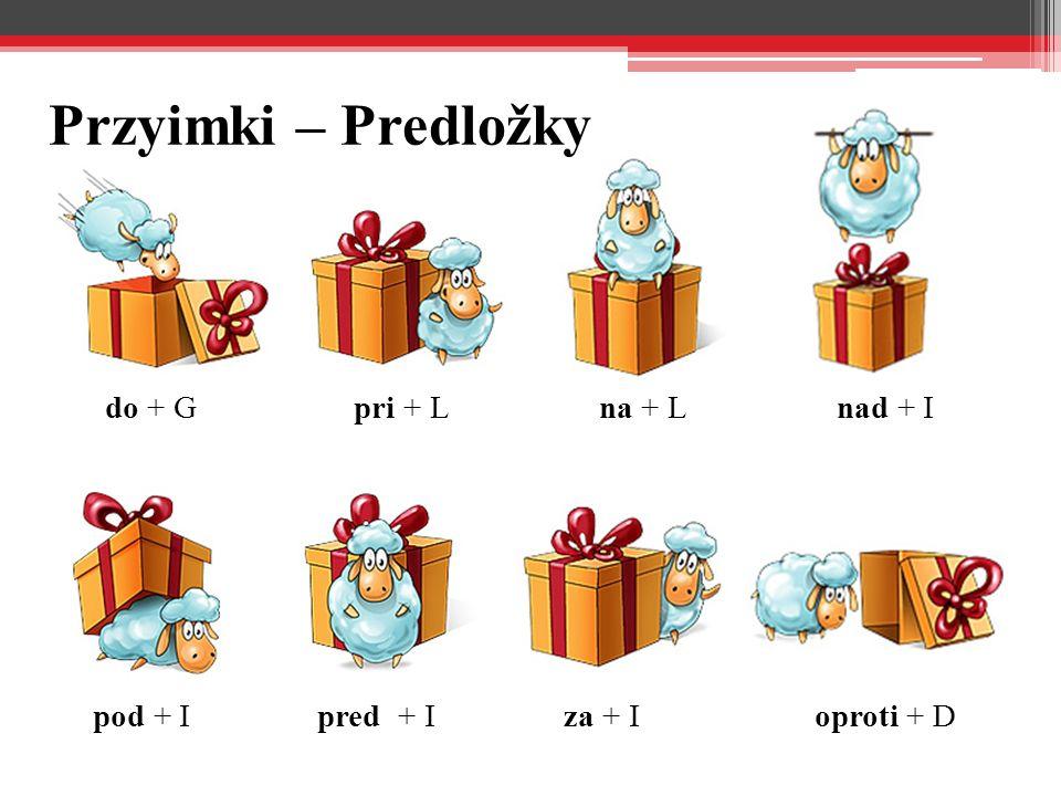 Przyimki – Predložky do + Gpri + Lna + Lnad + I pod + Ipred + Iza + Ioproti + D