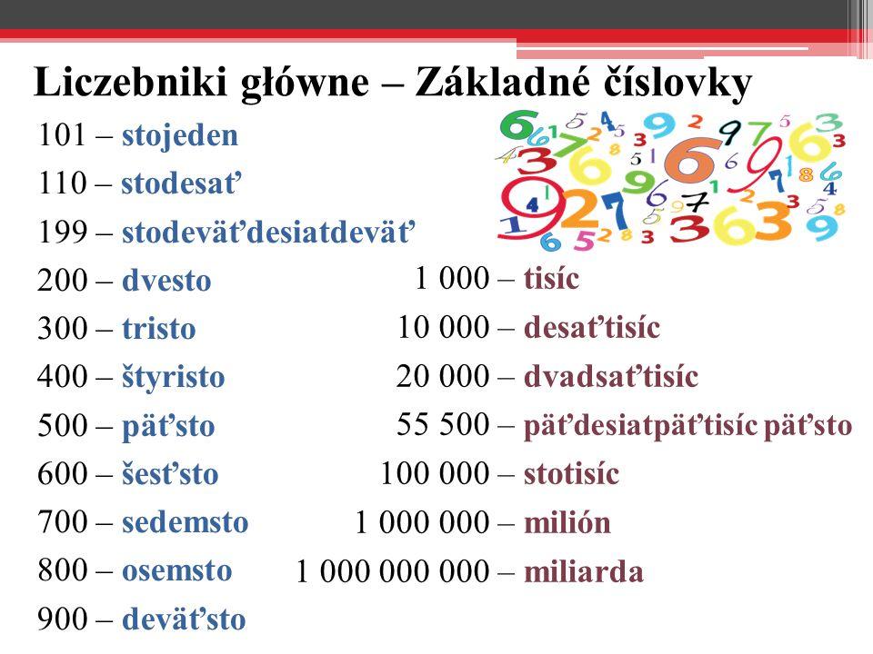 Liczebniki porządkowe – Radové číslovky 11.– jedenásty 12.