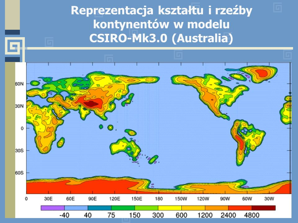 Reprezentacja kształtu i rzeźby kontynentów w modelu CSIRO-Mk3.0 (Australia)