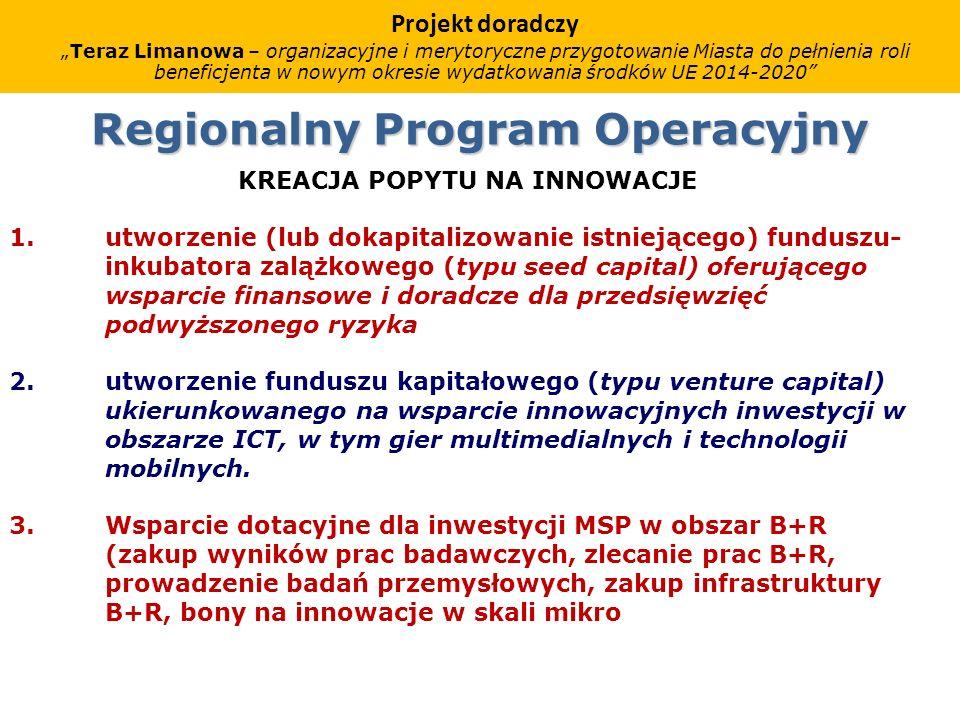 Regionalny Program Operacyjny KREACJA POPYTU NA INNOWACJE 1.
