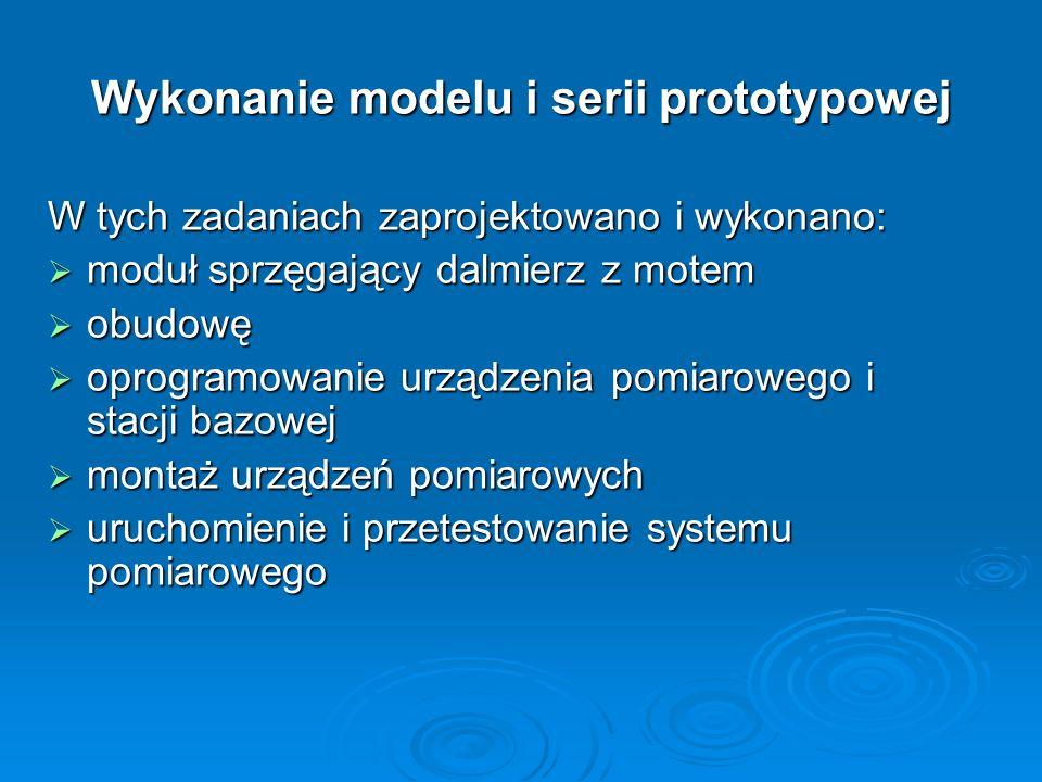 W tych zadaniach zaprojektowano i wykonano: moduł sprzęgający dalmierz z motem moduł sprzęgający dalmierz z motem obudowę obudowę oprogramowanie urząd