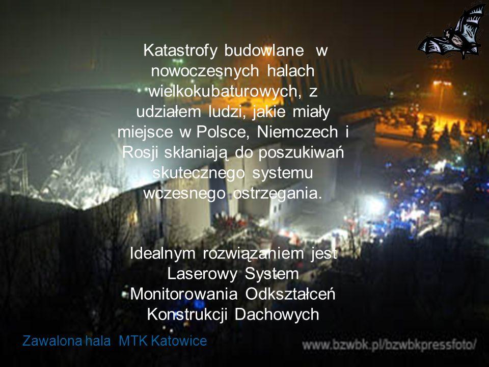Zawalona hala MTK Katowice Katastrofy budowlane w nowoczesnych halach wielkokubaturowych, z udziałem ludzi, jakie miały miejsce w Polsce, Niemczech i