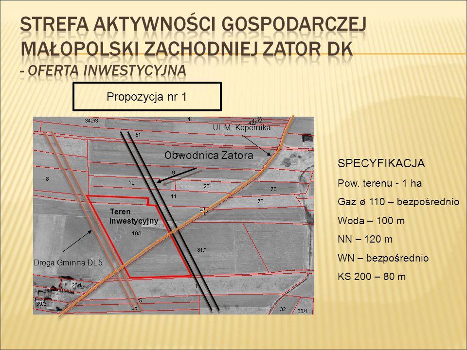 Własność Gminy Zator objęte Specjalną Strefą Ekonomiczną – 4,9 ha Obwodnica Zatora SSE