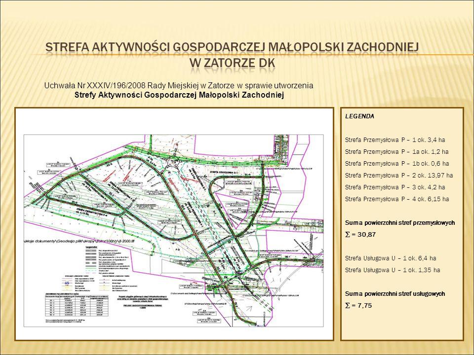 LEGENDA Strefa Przemysłowa P – 1 ok.3,4 ha Strefa Przemysłowa P – 1a ok.