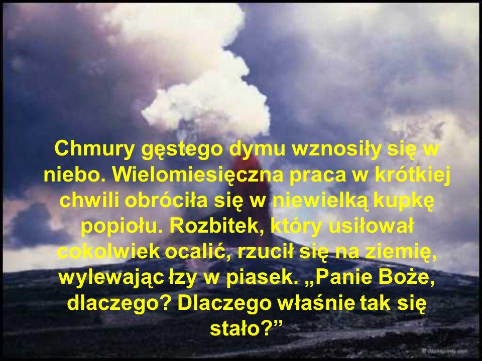 Pewnego dnia niespodziewanie wiatr powiał na ogień i płomienie musnęły maty.
