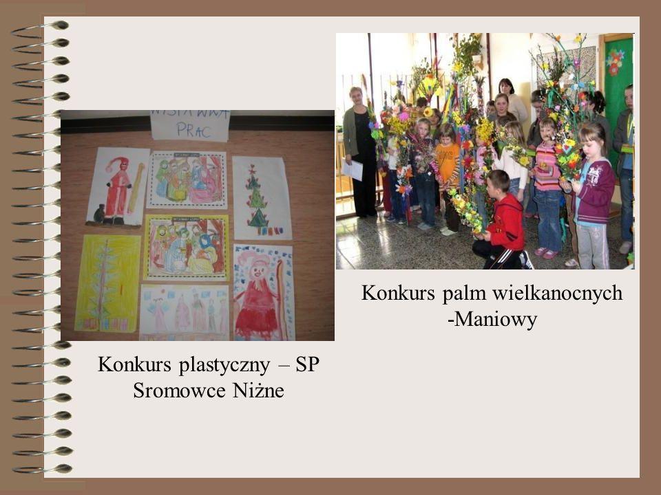 Konkurs plastyczny – SP Sromowce Niżne Konkurs palm wielkanocnych -Maniowy
